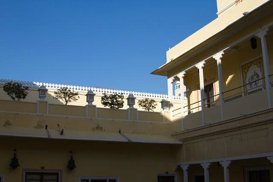 The Raj Palace Grand Heritage Hotel:                   Small court yard