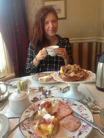 Minden House B&B and Cottages:                   Delicious breakfast!