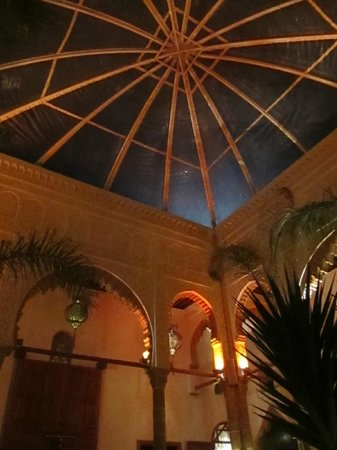 Riad Kalaa :                   The roof over the dining area which opens during summer