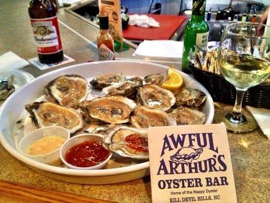 Awful Arthur's Oyster Bar:                   the freshest raw oysters shucked by the bartender.