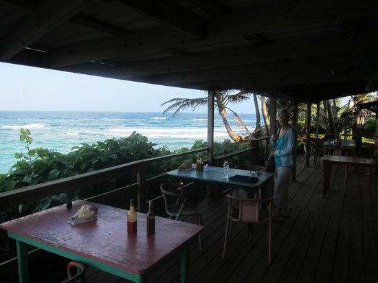Casa Iguana:                   Ocean, from deck of restaurant