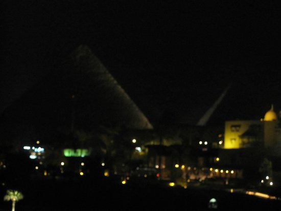 Mena House Hotel:                   view at night from our room