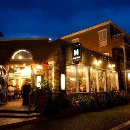 M Restaurant: Patio street view