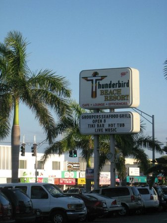 Thunderbird Beach Resort:                   We love the sign!