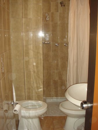Hotel Ariston:                   bathroom is narrow, and there is no water pressure. showering is impossible.