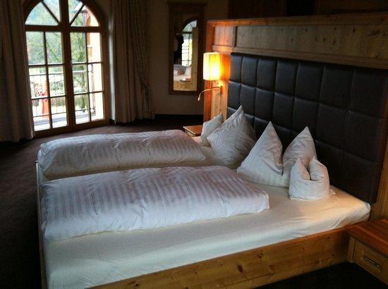 Hotel Bayerwaldhof:                   Schlafbereich im Schlaf/Badezimmer