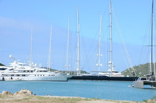 Nelson's Dockyard:                                     Some of the impressive yachts