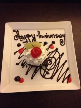 Sandals Grande Antigua Resort & Spa:                   Special Anniversary Dessert