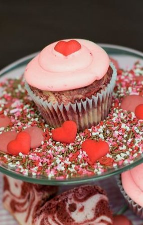The Cupcakery: Ruby Cupcake: Red Velvet and Strawberry Swirl