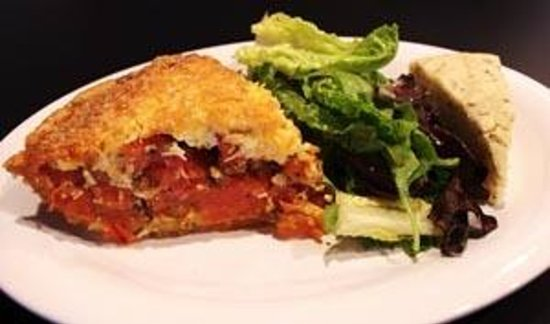 Tomato Pie Cafe: The Infamous Tomato Pie DIsh