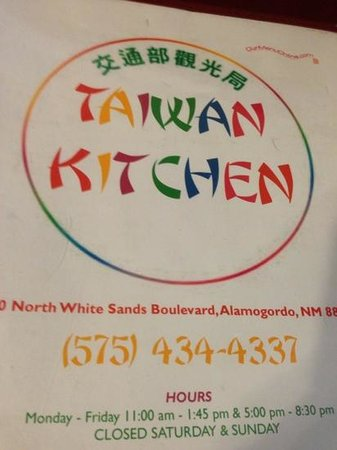 Taiwan Kitchen Alamogordo Nm Menu