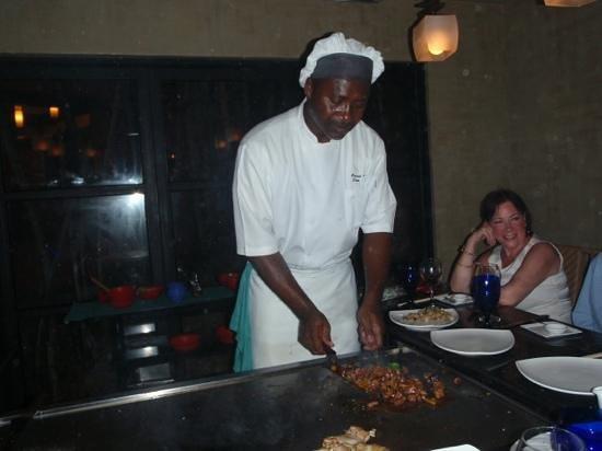 """Sandals Grande Antigua Resort & Spa:                   Kimono's Chef """"Sugar"""" was Amazing!"""