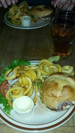 Bag and Kettle:                   Burger and curly fries