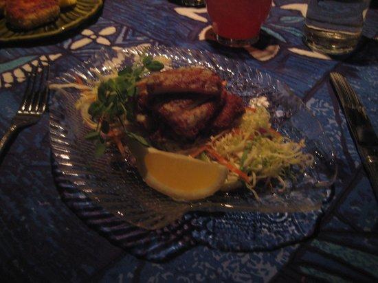 Mama's Fish House:                   Wasabi crusted Calamari