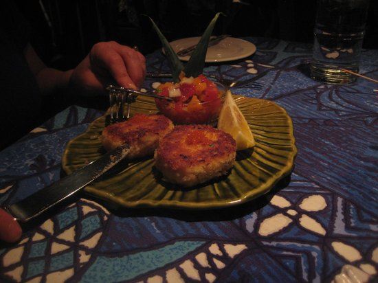 Mama's Fish House:                   Macadamian Nut Crab cakes