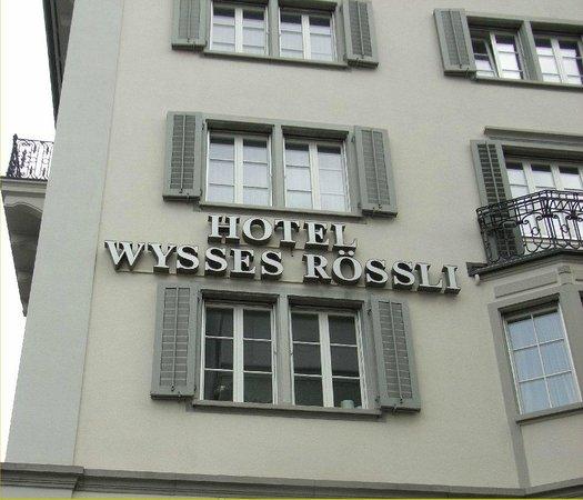 Side view of the hotel Wysses Rossli, Schwyz