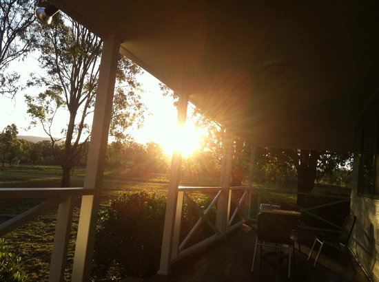 Cam-Way Estate:                   Sunset from the verandah of the 2 bedroom cottage