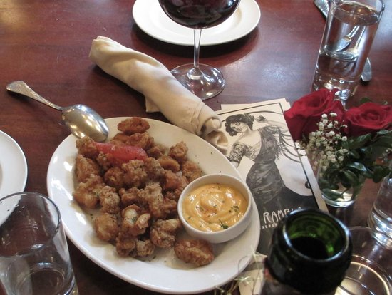 La Rambla Restaurant & Bar:                   Calamari with a chipotle dip