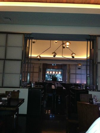 Bourbon Steak:                   Interior of dining room