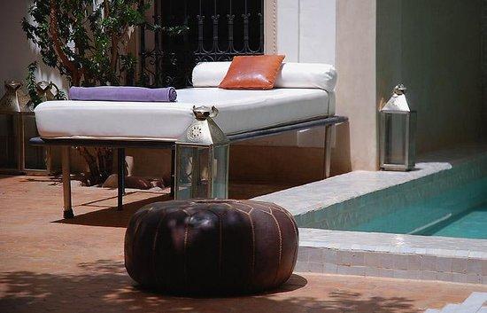 Riad Al Massarah: ...or dip your feet in the pool