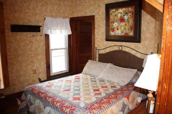 The Lake House: We have lower queen beds for the older guests.