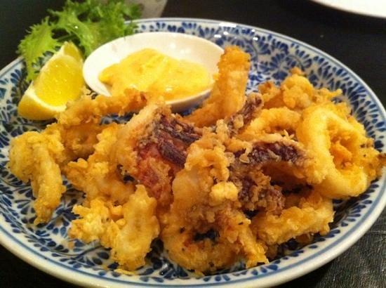 Sushi Yasu:                   fried calamari