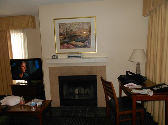 Sonesta ES Suites Wilmington - Newark:                   Living Room/Fire Place