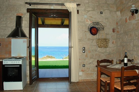 Kavos Psarou Villas: SEA VIEW FROM A VILLA