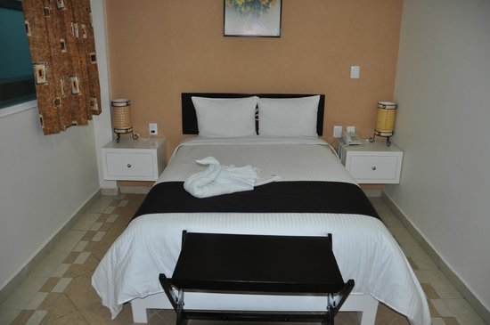 Hotel Irekua:                   View of bed and side tables