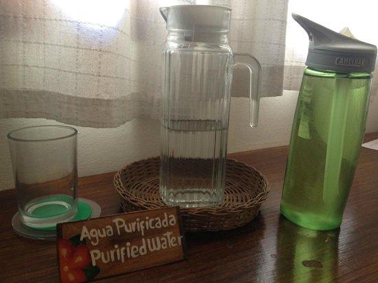 Arbol de Fuego Eco-Hotel:                   LOVE the filtered water!