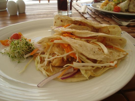Casa Velas:                   Shrimp Tacos at Beach/Ocean Club for lunch..