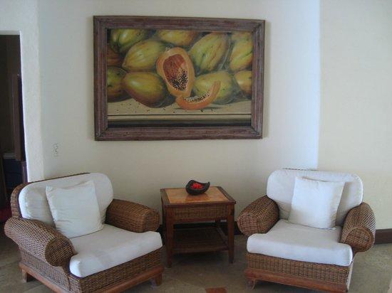 Casa Velas:                   Sitting area at entrance of Beach/Ocean Club
