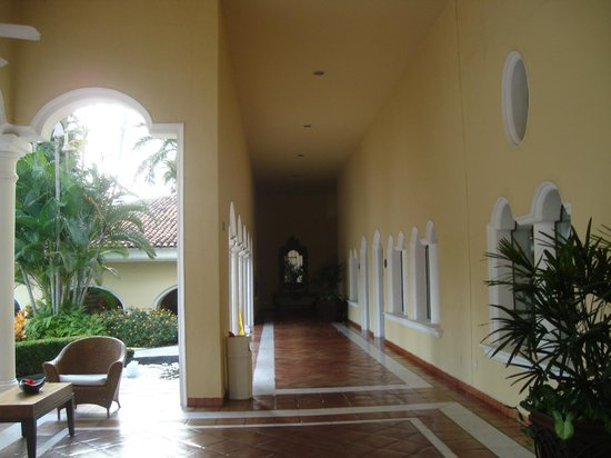 Casa Velas:                   Hallway off lobby bar