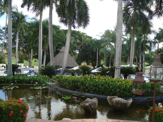 Casa Velas:                   Loi ponds , lush landscape surround you on the grounds