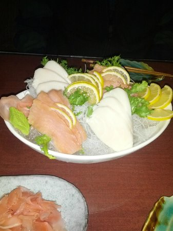 Singapore Restaurant & Sushi Bar:                   White tuna and smoked salmon sashimi