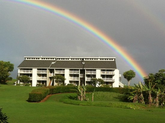 The Cliffs at Princeville:                   Condos at The Cliffs, we had some spectaular Rainbows!