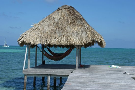 Costa Maya Beach Cabanas:                   Hammocks at the end of the pier