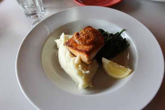 Checker's:                   grilled salmon