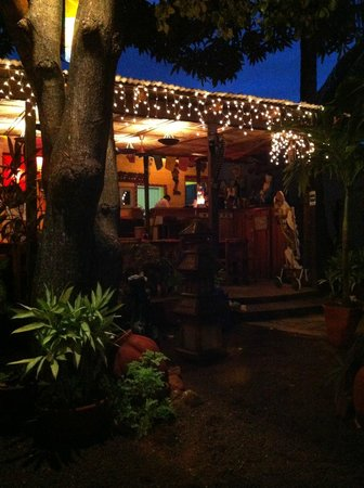 El Colibri:                   View from garden seats to main entrance to restaurant