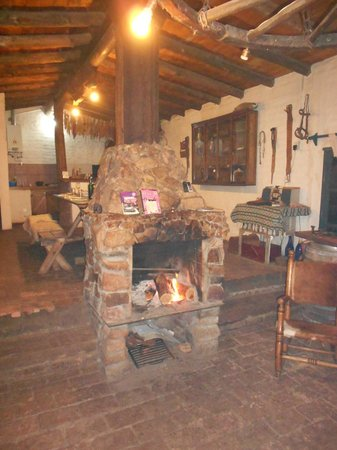 Estancia San Pablo :                                     Fireplace at the estancia