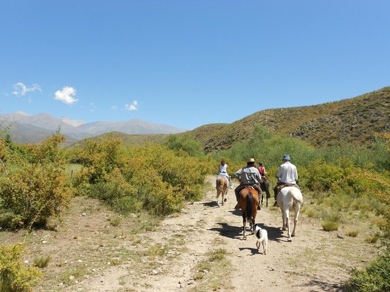 Estancia San Pablo :                                     Horseback riding in the foothills of the Andes