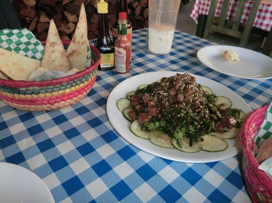 Chstr:                   The tuna appetizer w/ spinach & cucumber...WOW!