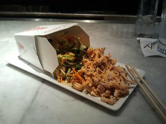 Hotel ZaZa Dallas:                   Asian chicken salad. Great presentation and delicious!