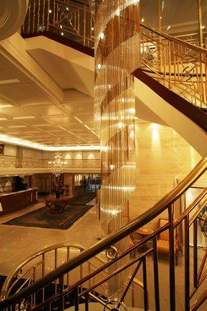 Savoy Baur En Ville lobby staircase