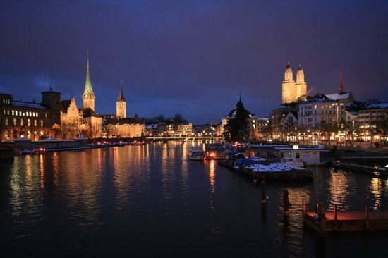 Savoy Baur En Ville:                                     Zurich at night