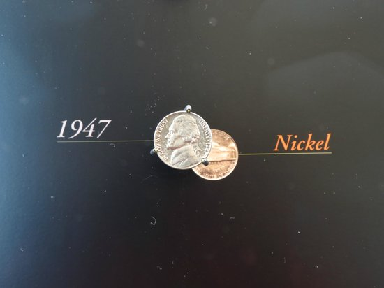 The Money Museum:                   The first nickel with Thomas Jefferson
