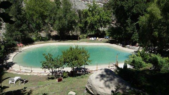 Cascada de las Animas:                   Piscina con agua temperada