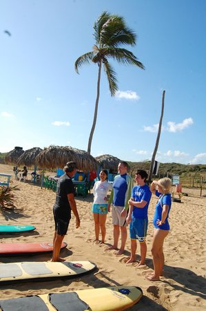 Macao Surf Camp:                                                       Our small group. The other couple was from