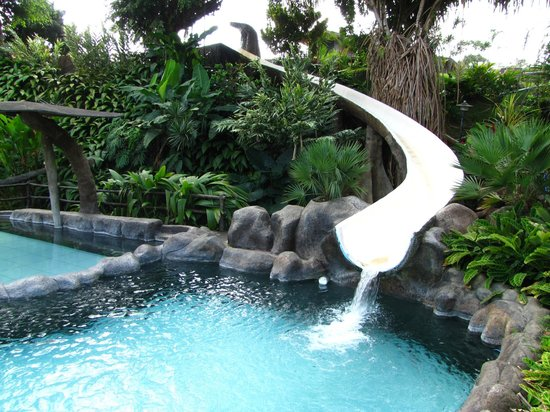 Los Lagos Hotel Spa & Resort:                   Waterslide into main pool