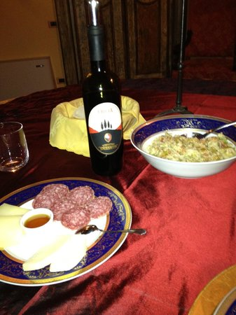 Due Terre Agriturismo :                   wine from the vineyard (and co-op)